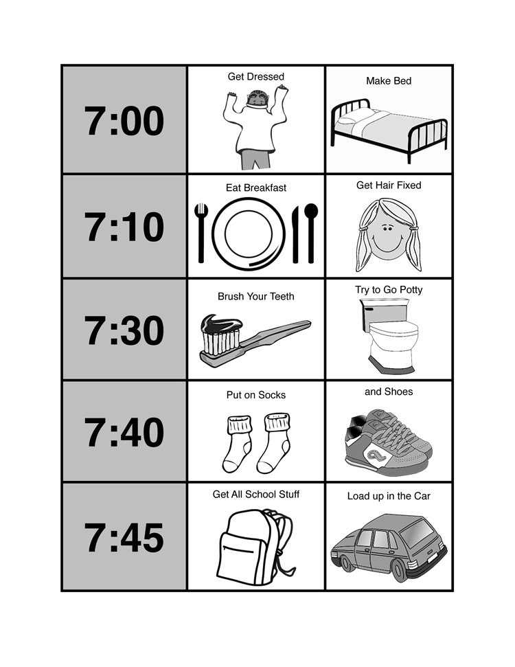 This is a picture of Breathtaking Printable Morning Routine Chart