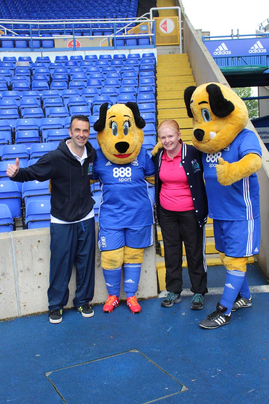 Shaz and Craig with mascots