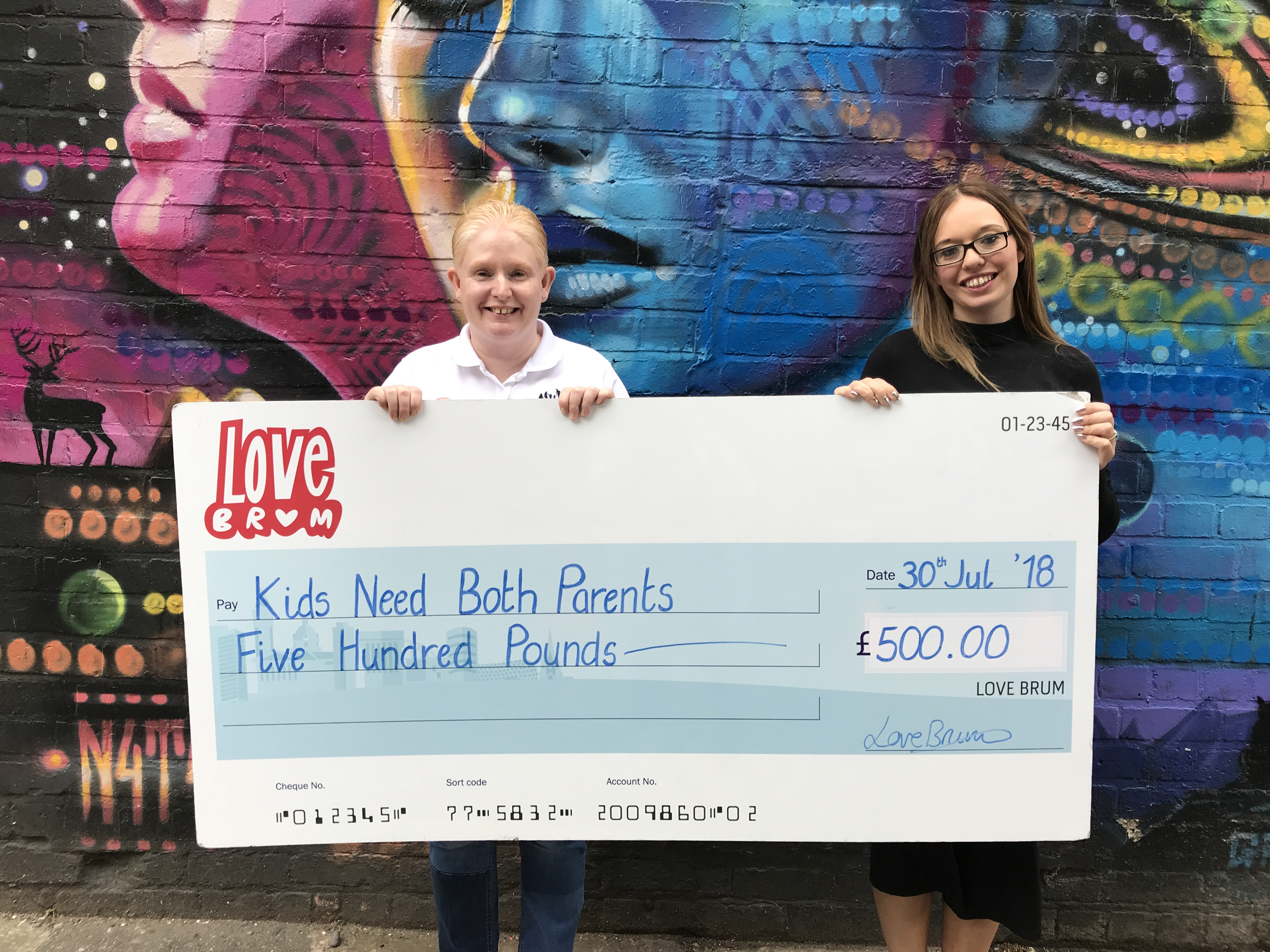 Cheque Presentation - Kids Need Both Parents