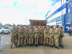 Interview shed cadets