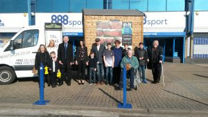 Young Carers outside the Kop reception 2